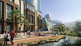 商业建筑广场景观 JPG