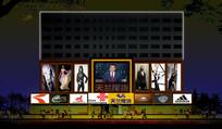 商业建筑照明flash动画