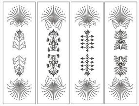 四组花门图雕花图案