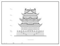 万佛殿立面图 CAD