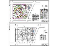 小游园环境景观设计图 dwg