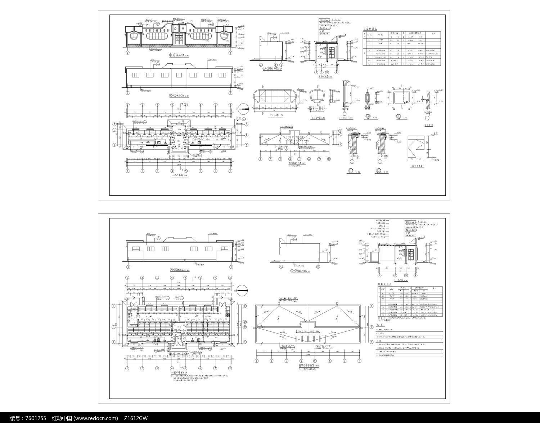 学校公共厕所建筑施工图2套图片