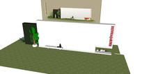 LOGO景墙模型