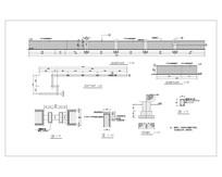 矮墙平立剖面施工图CAD dwg