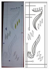 抽象双线图雕刻图案 CDR