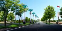 道路景观柱效果图 JPG
