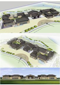东南亚风格会所建筑草图大师SU模型