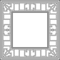 方形中式镂空图案