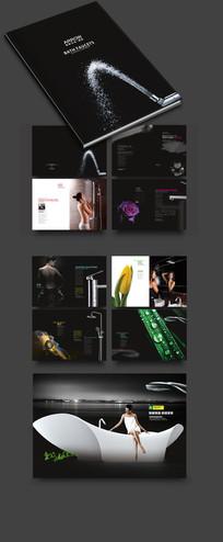 高档黑色卫浴宣传册模版