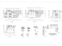 酒店大堂西餐厅室内平面图CAD