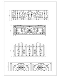 栏杆铁艺图案样式