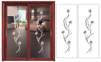 兰花抽象门图雕刻图案 CDR