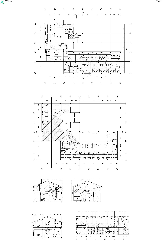 两层咖啡厅餐厅平面建筑设计图