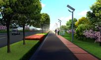 人行道绿化景观效果图