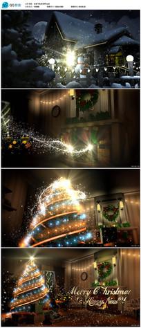 圣诞节新年开场片头视频