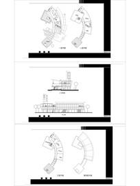 生态湖滨茶馆建筑平立面CAD