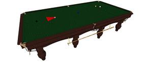 台球桌SU模型及预览图