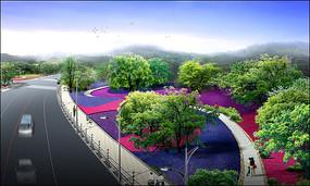 汤山路周边绿化鸟瞰图