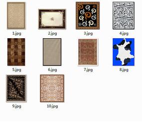 现代精美地毯纹样psd贴图