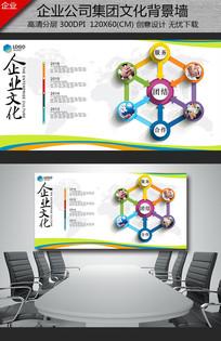 现代通用企业形象墙