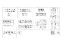 小茶艺馆装饰初步设计方案平面立面图CAD
