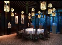 中式酒楼内景装饰效果图