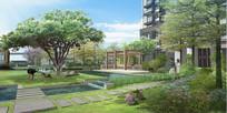 住宅后庭院景观效果图