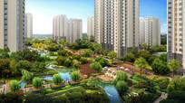 住宅区生态绿化效果图