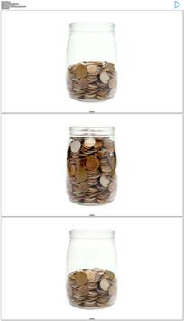 储蓄罐存钱实拍视频素材