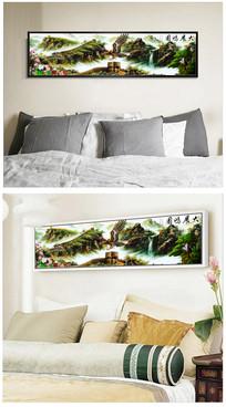 大展鸿图长城山水风景床头装饰画图片