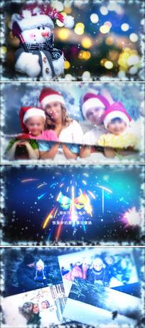 冬季温馨圣诞新年家庭相册模板