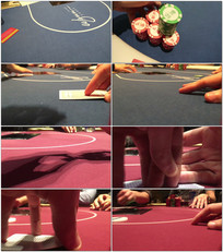 赌场扑克牌牌局视频