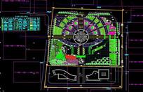 广场景观规划图