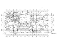 粮库住宅标准层结构平面