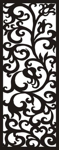门图欧式花纹雕刻图案 CDR