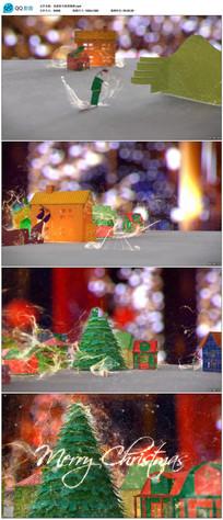 魔法圣诞新年问候祝福视频