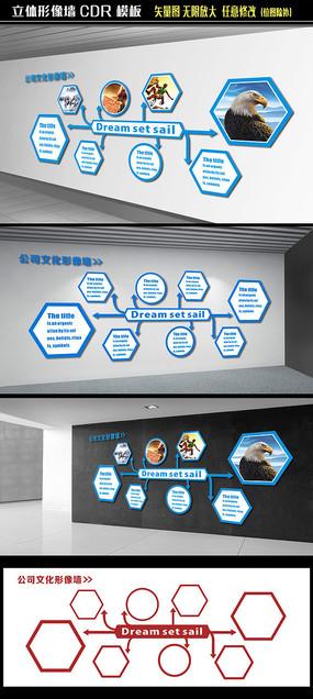 企业标语文化墙展板设计