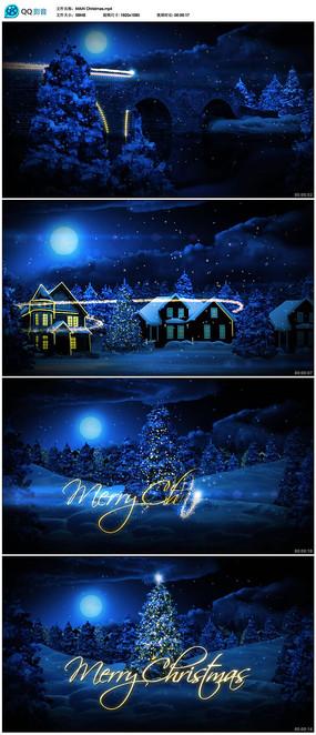 圣诞节晚会开场片头视频