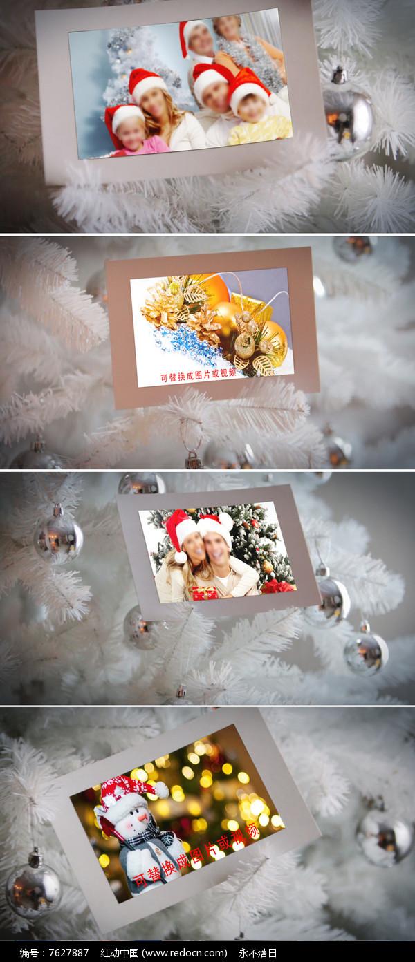 圣诞节新年家庭纪念相册ae模板图片