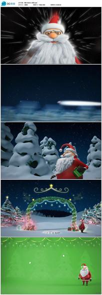 圣诞老人宇宙奔跑至地球送祝福视频
