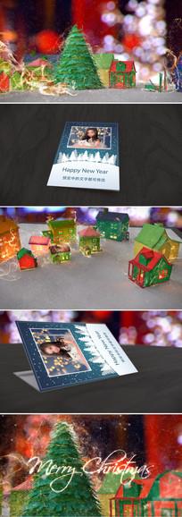圣诞新年魔法贺卡视频模板