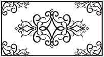 四角花雕刻图案