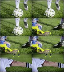 踢足球赛射门得分视频