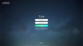 通用web登录界面ui设计