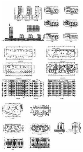 小区单元楼及户型设计图