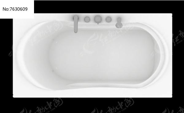 纯色优雅室内浴缸psd图片