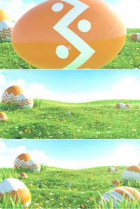 鸡蛋壳花纹裂开草地阳光视频