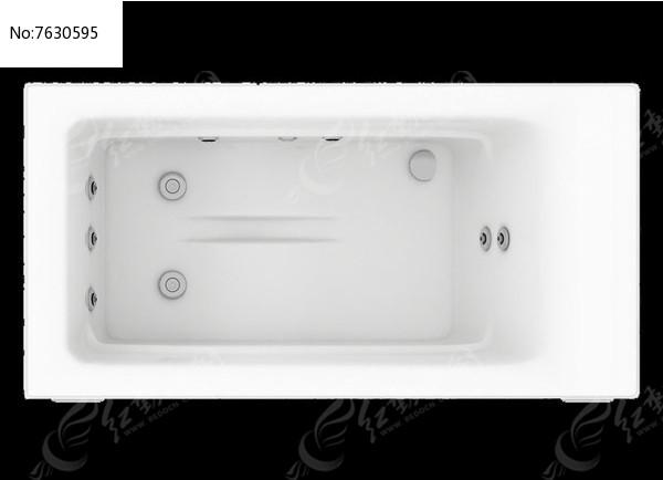矩形家庭休闲浴缸psd图片