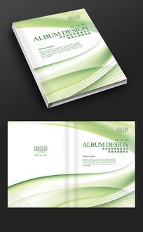 绿色线条时尚封面设计