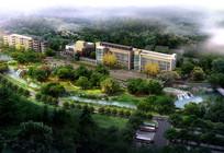 某学校绿化景观效果图 PSD